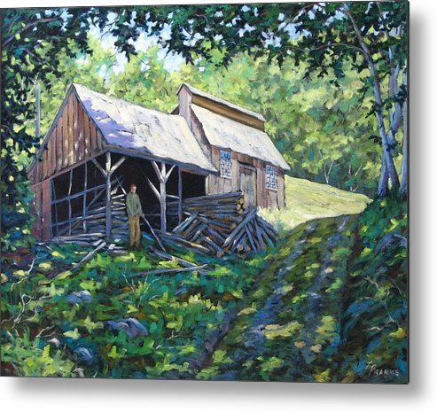 Sugar Shack Metal Print featuring the painting Sugar Shack In July by Richard T Pranke