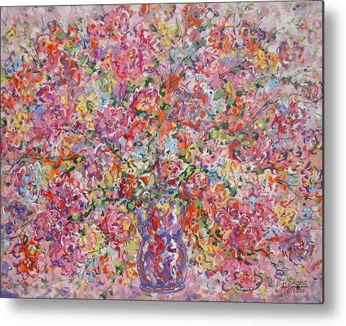 Painting Metal Print featuring the painting Summer Flowers by Leonard Holland