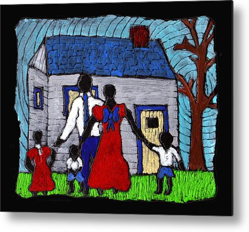 Family Metal Print featuring the painting Sunday Morning Finest by Wayne Potrafka
