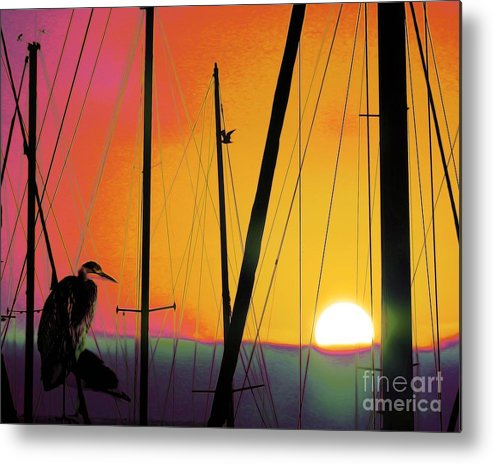 Sunrise-at The-marina Metal Print featuring the photograph Sunrise At The Marina by Scott Cameron
