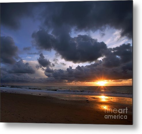 Beach Metal Print featuring the photograph Sunset At The Strand by Kim Michaels
