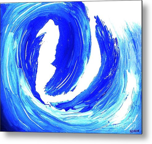Painting Metal Print featuring the painting Surfin Usa by Marsha Heiken