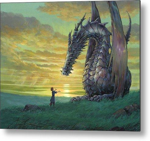Tales From Earthsea Metal Print featuring the digital art Tales From Earthsea by Mery Moon