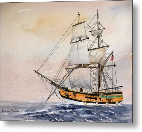 Lady Washington Metal Print featuring the painting Tall Masted Ship by Lynne Parker