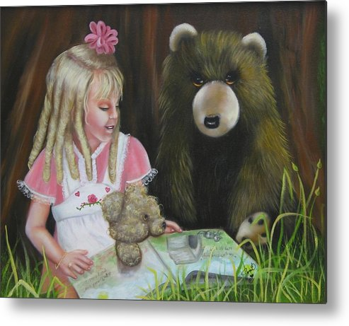 Children Metal Print featuring the painting Teacher by Joni McPherson