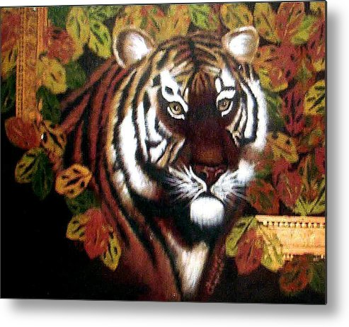 Tiger Metal Print featuring the painting Tessas Tiger by Darlene Green
