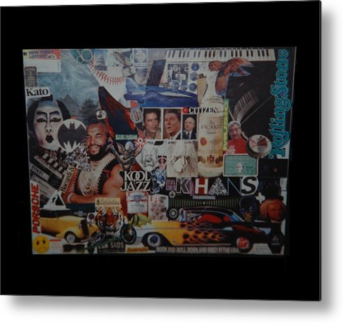 Abstract Metal Print featuring the photograph The 80 S Collage by Rob Hans