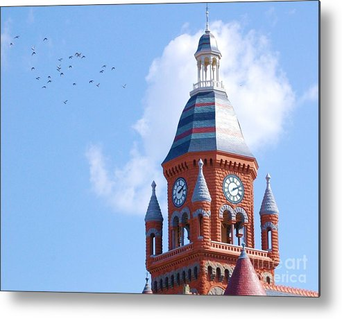 Clock Metal Print featuring the photograph The Birds by Debbi Granruth