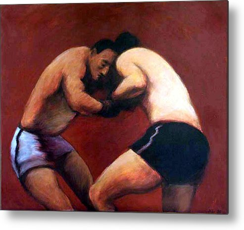 Boxers Metal Print featuring the painting The Boxers by James LeGros