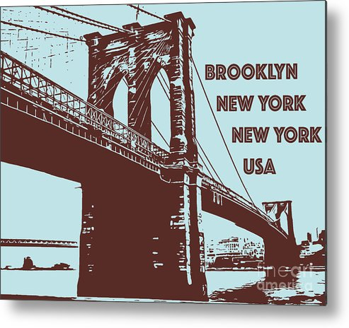 Brooklyn Metal Print featuring the photograph The Brooklyn Bridge, New York, Ny by PorqueNo Studios