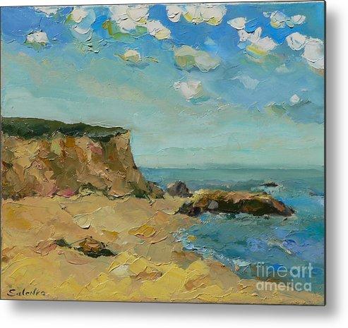 Landscape Metal Print featuring the painting The Coast by Irina Salenko