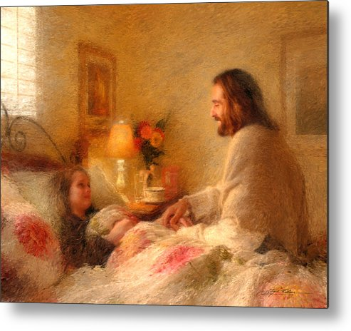 Jesus Metal Print featuring the painting The Comforter by Greg Olsen