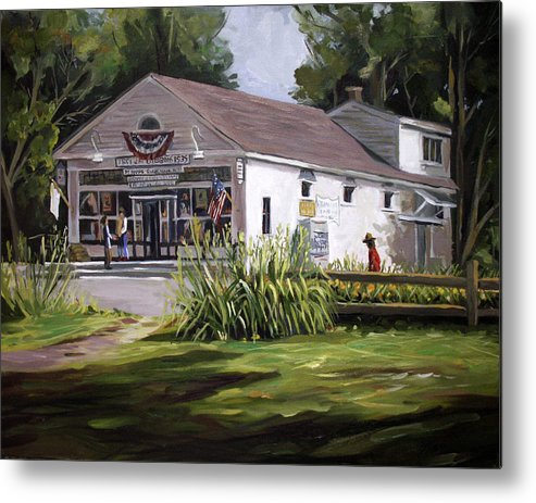 Buildings Metal Print featuring the painting The Country Store by Nancy Griswold