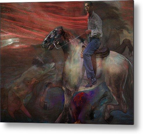 Horse Metal Print featuring the digital art The Dream 2 by Henriette Tuer lund