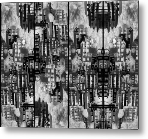 Abstract Metal Print featuring the photograph The Dwellings 2 by Daniel Schubarth