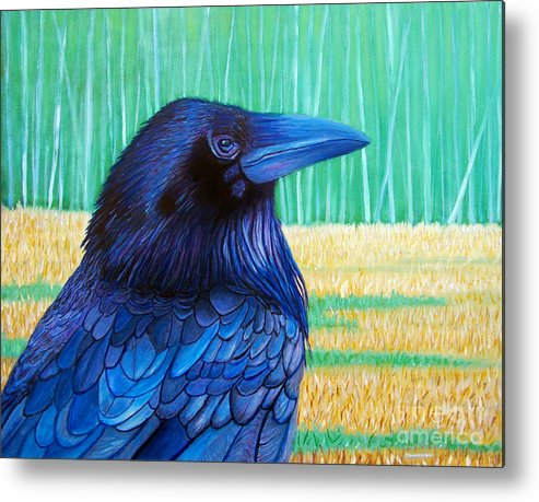 Raven Metal Print featuring the painting The Field Of Dreams by Brian Commerford