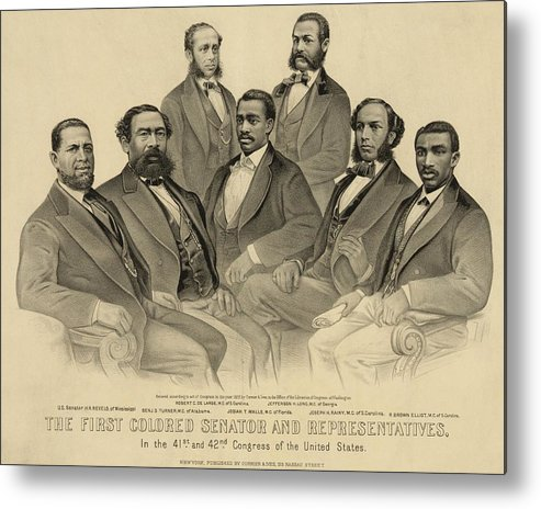 History Metal Print featuring the photograph The First African American Senator by Everett