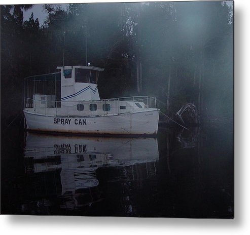Boat Metal Print featuring the painting The Ghost Ship by Debbie May