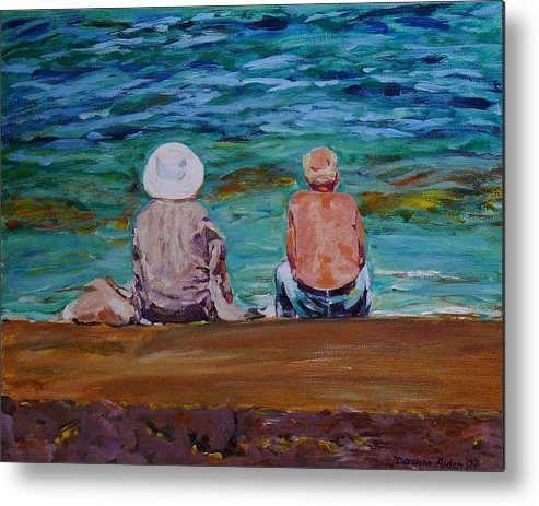 People Metal Print featuring the painting The Golden Years by Doranne Alden