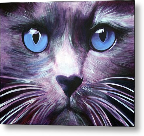 Cats Metal Print featuring the painting The Guardian by Fiona Jack
