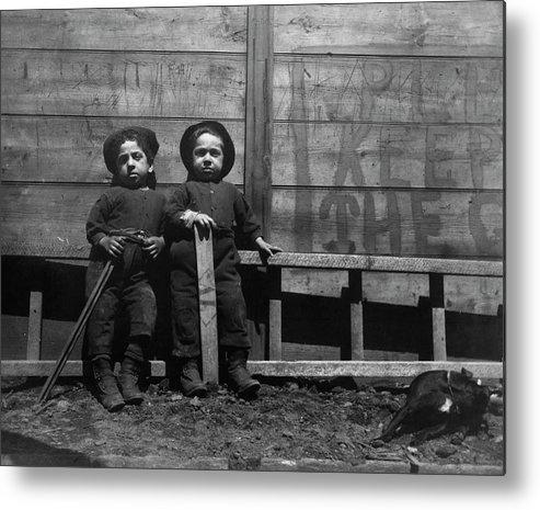 7357b6d18c5 1890c The Mott Street Boys Metal Print featuring the painting The Mott  Street Boys by Jacob