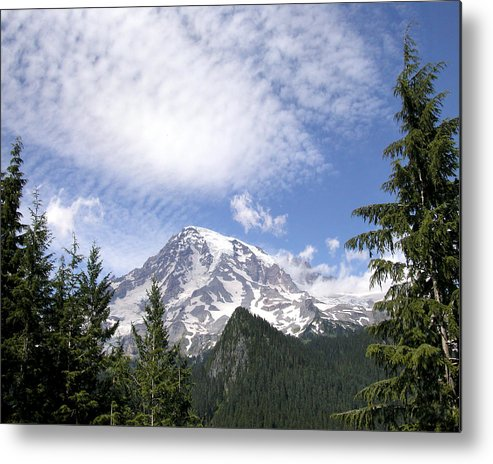 Mountain Metal Print featuring the photograph The Mountain Mt Rainier Washington by Michael Bessler