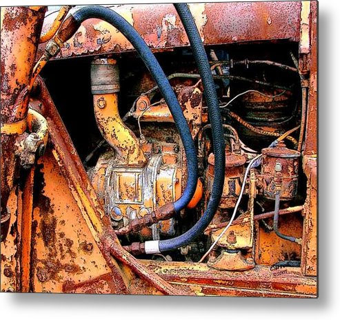 Photography Metal Print featuring the photograph The Old Tractor by Linda Carroll