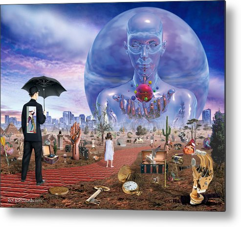 Surreal Metal Print featuring the digital art The Road Ahead by Rick Borstelman