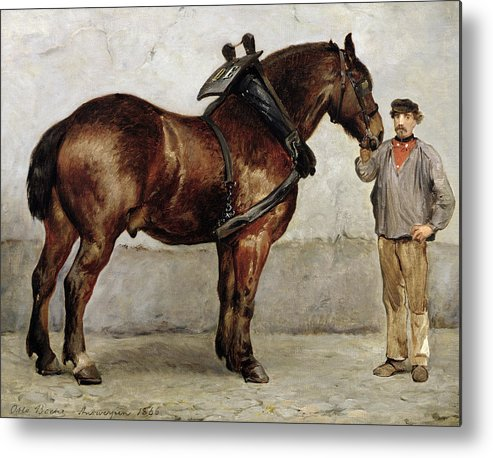 Horse Metal Print featuring the painting The Work Horse by Otto Bache