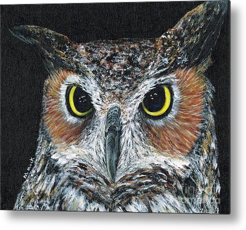 Owl Metal Print featuring the painting Those Eyes by Michelle Muck