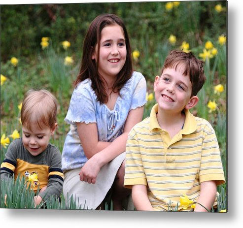 Spring Metal Print featuring the photograph Thoughts Of Spring - J Family by Lisa Johnston