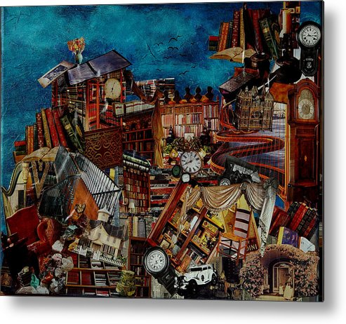 Time Metal Print featuring the mixed media Time Of A Life Time by Karen Rester