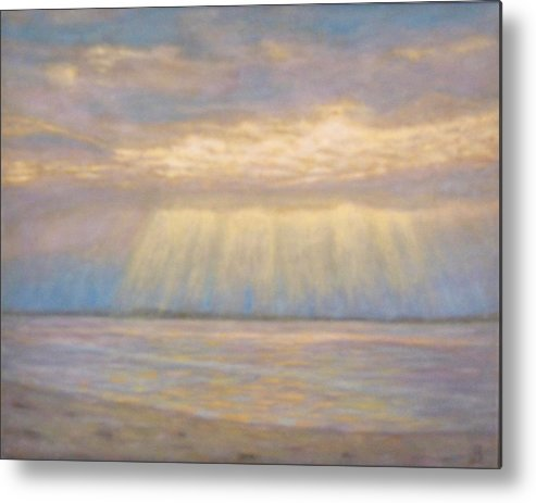 Seascape Metal Print featuring the painting Tranquility by Joe Bergholm