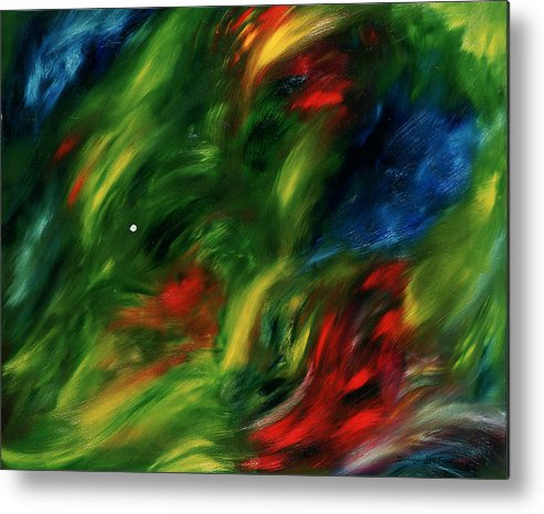 Abstract Metal Print featuring the painting Trepidation De La Vie by Dominique Boutaud
