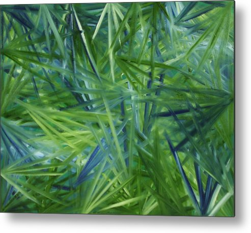 Tropical Metal Print featuring the painting Tropical Point Of View by Karen Rester