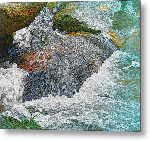 Waterfall Metal Print featuring the photograph Trout Stream by Krinkled Leaves Photography