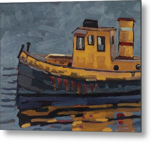 2020 Metal Print featuring the painting Tug With No-name by Phil Chadwick