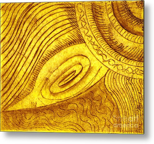 Abstract Metal Print featuring the digital art Turtle by Iglika Milcheva-Godfrey