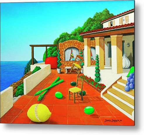 Tuscan Metal Print featuring the painting Tuscan Vacation by Snake Jagger