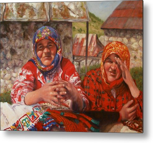 Realism Metal Print featuring the painting Twins by Donelli DiMaria