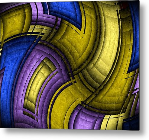 Twisted Metal Print featuring the digital art Twisted Quilt by Terry Mulligan