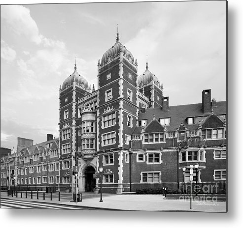 University Of Pennsylvania Metal Print featuring the photograph University Of Pennsylvania The Quadrangle by University Icons