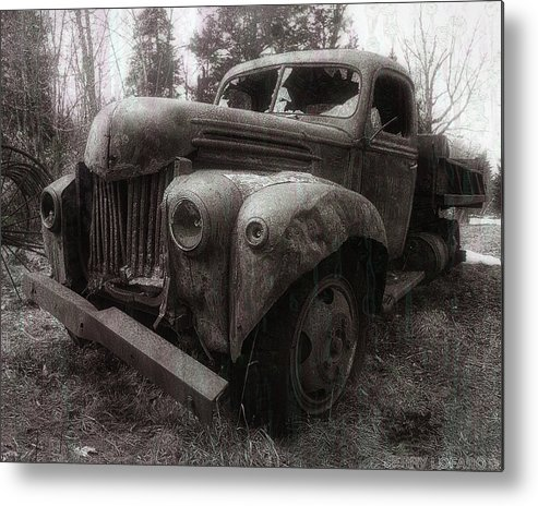 Truck Metal Print featuring the photograph Unquiet Slumbers For The Sleeper by Jerry LoFaro