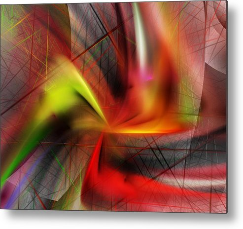 Digital Painting Metal Print featuring the digital art Untitled 5-3-10-a by David Lane