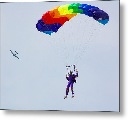 Parachute Metal Print featuring the photograph Untitled by Jennifer Englehardt