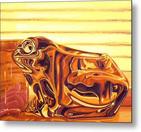 Frog Metal Print featuring the painting Untitled by Judy Henninger