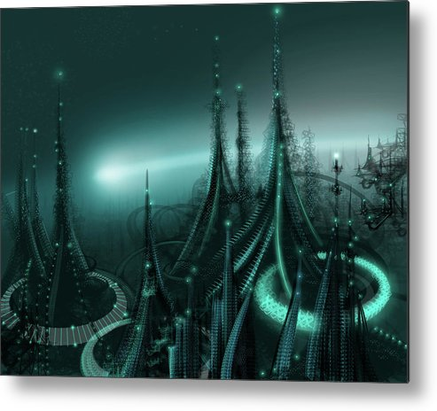 Cityscape Metal Print featuring the digital art Utopia by James Christopher Hill