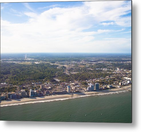 Landscape Metal Print featuring the photograph View Of Myrtle Beach by Barbara Blanchard