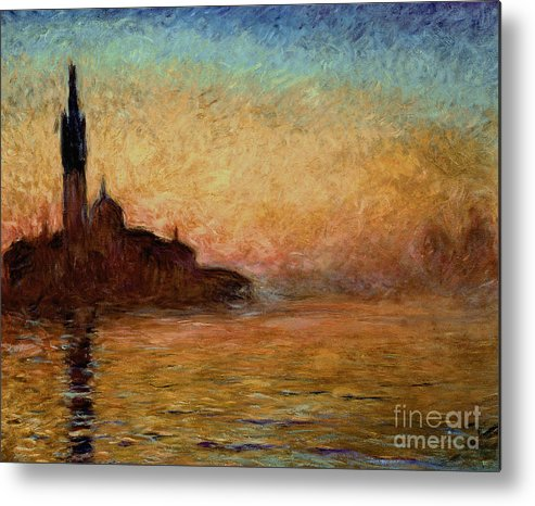 View Metal Print featuring the painting View Of San Giorgio Maggiore by Claude Monet