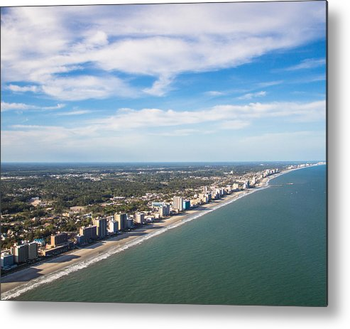 Landscape Metal Print featuring the photograph Views From Above by Barbara Blanchard
